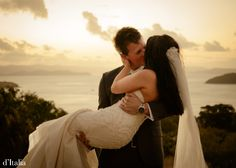 HAPPY!  What a special moment.  Find out how at: www.ditalia.com.au  #melbournebride #ditalia #weddings #kiss #sunset