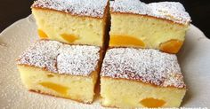 Vynikajúci, šťavnatý zákusok s veľmi jemnou pudingovou chuťou, ktorý si zamilujete. Rýchly, jednoduchý a nenáročný na prípravu. 1... Good Food, Yummy Food, Desert Recipes, Amazing Cakes, Cornbread, Vanilla Cake, Delish, French Toast, Cheesecake