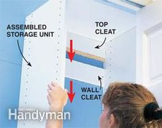 DIY Melamine Cabinets For Closet, Utility Room, And Pantry Storage