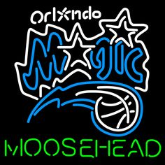 Moosehead Orlando Magic NBA Neon Beer Sign, Moosehead with NBA Neon Signs | Beer with Sports Signs. Makes a great gift. High impact, eye catching, real glass tube neon sign. In stock. Ships in 5 days or less. Brand New Indoor Neon Sign. Neon Tube thickness is 9MM. All Neon Signs have 1 year warranty and 0% breakage guarantee.