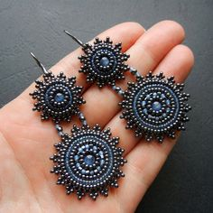 Earrings...love the way they connect! These would look great with jeans.