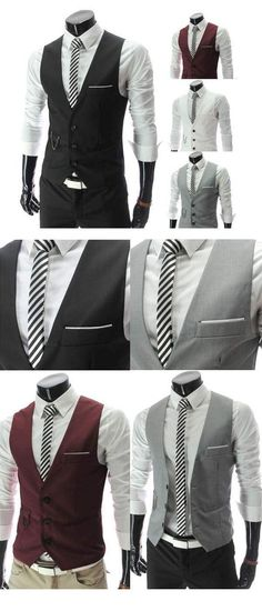 Vest Suit Jacket Suit Men Dress Fashion Slim Fit Class Smart Sleeveless Vest Suit Jacket Suit for Man Dressed. Punk Outfits, Fashion Outfits, Gilet Costume, Man Dressing Style, Just Style, Suit Vest, Suit And Tie, Gentleman Style, Stylish Men