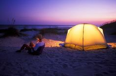 Beach camping off of Hammocks Beach State Park on Bear Island ~ North Carolina Best Places To Camp, Camping Places, Beach Camping, Camping World, Go Camping, Places To Visit, Camping Ideas, Outdoor Camping, Camping Store