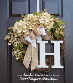 Cream Hydrangea WreathSummer WreathSpring WreathYear Round