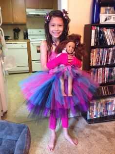 Monster High Tutu with matching Bows legging and fingerless gloves! Don't forget doll has her own skirt and matching bow as well!!! Little Dreamers Boutique on FB