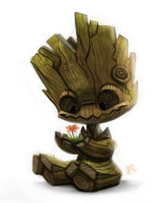 Daily Paint #628 - Groot by Cryptid-Creations on deviantART