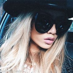 f35ecac4fbe Details about Oversized Xtra Large Round Cat Eye Wolves Foxes Style Women  Sunglasses Bohemian
