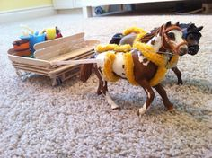 DIY Horse harness and cart fit for Schleich horses