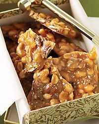 Best-Ever Nut Brittle ~ Tina Ujlaki adapted this crunchy, buttery, slightly salty brittle from a recipe by pastry chef Karen DeMasco of New York City's Craft. Candy Recipes, Wine Recipes, Holiday Recipes, Dessert Recipes, Cooking Recipes, Holiday Baking, Christmas Baking, Christmas Items, Christmas Goodies