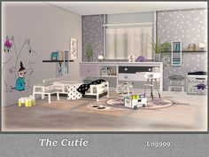 This lovely toddler room set includes 11 new items: (Decor items included in the next decor set)  Found in TSR Category 'Sims 4 Kids Bedroom Sets'