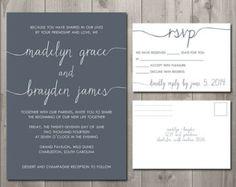 Scribble Wedding Invitation and RSVP Set - DIY Printable Wedding Invitation