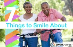 Feeling down? Here are 7 things worth smiling about RIGHT NOW. | via @SparkPeople #positive #happy #SmileStarters