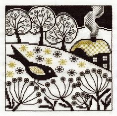blackwork | bird song blackwork bk1352 £ 16 99 buy now butterfly garden blackwork ...