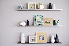 wall decor - Hobby Lobby / Target / Tjmaxx, West Elm shelving photo display, modern decor, black and white decor
