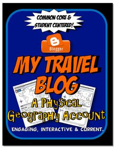 This physical geography assignment is engaging, current and student centered. Students complete a diary blog about their experiences traveling in a specific geographical region. Free on TpT