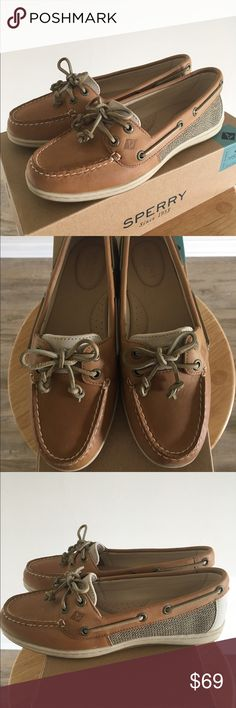 NIB Sperry Top-Sider Firefish Leather Boat Shoes New in box! Women's Sperry Top-Sider Firefish Core leather boat shoes in linen/oak color. Size 6.5 M. Price is firm unless bundled.  Sperry Top-Sider Shoes Flats & Loafers
