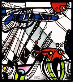 Georg Meistermann 1952 Stained Glass Panels, Stained Glass Art, Museum, Simple Illustration, Bunt, Spiderman, Superhero, Inspiration, Jessie