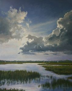 Chance of Showers by Paula B. Holtzclaw. Oil. (hva)