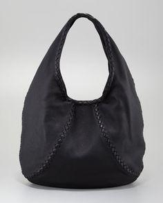 Cervo Large Hobo Bag, Black by Bottega Veneta at Neiman Marcus.