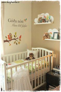 A nook in parents bedroom for baby boy...