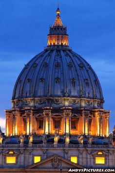 St. Peters Basilica at Night - Vatican City