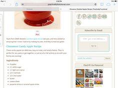 Cinnamon Candy Apple Recipe