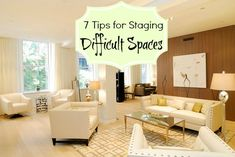 7 Home Staging Tips for Tough Spaces -Really cool before-and-after photos from a NYC stager