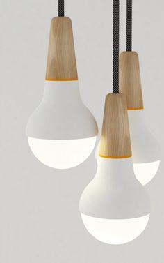 Lighting butcherblock takeovertime: (via Scoop Light by Stephanie Ng Interior Lighting, Home Lighting, Modern Lighting, Lighting Design, Pendant Lighting, Pendant Lamps, Industrial Lighting, Chandelier, Deco Luminaire