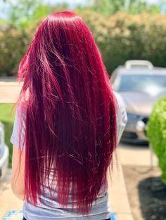 Dark Red Velvet - 50 Shades of Burgundy Hair Color: Dark, Maroon, Red Wine, Red Violet - The Trending Hairstyle Dyed Red Hair, Red Hair Color, Ombre Hair, Color Red, Red Pink Hair, Red Hair On White Skin, Vibrant Red Hair, Magenta Hair Colors, Hair Dye
