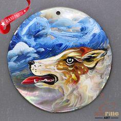 Fashion Pendant Hand Painted dog Necklace Black Lip Shell Necklace ZL304247 #ZL #Pendant