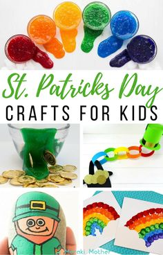Read here for nine brillant, fun and easy DIY craft activities for St. These crafts are perfect for toddlers and preschoolers. Craft Projects For Kids, Crafts For Kids To Make, Easy Diy Crafts, Crafts For Teens, Fun Crafts, Art Projects, St Patrick Day Activities, Kids Learning Activities, Preschool Crafts