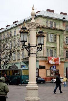 Lviv    Lights on the Theatre square