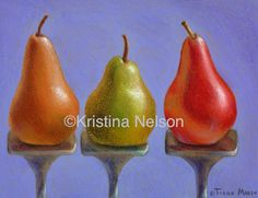 This remarkable art was made entirely using crayons! Drawing of 3 pears with crayola crayons by artist Kristina Nelson Crayon Drawings, Crayon Art, Beautiful Artwork, Cool Artwork, Recycled Art Projects, Pastel Drawing, Colour Board, Various Artists, Crayons