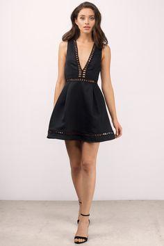 Kayla Black Skater Dress