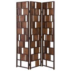 Wood Room Divider, 4 Panel Room Divider, Space Dividers, Folding Room Dividers, Folding Screens, Wood Slats, Wood Paneling, Wood Wood, Wood Art