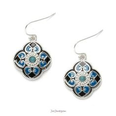 """Bold Earrings for Spring """"Dream Come True"""" from JJ Summer Collection, Jewelry Collection, Teal, Product Launch, Spring Summer, Bling, Drop Earrings, Boutique, Vibrant"""