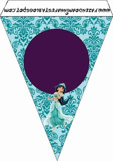 Jasmine and Aladdim - Full Kit with frames for invitations, labels for snacks, souvenirs and pictures! Aladdin Birthday Party, Aladdin Party, 4th Birthday Parties, 1st Birthday Girls, Birthday Party Decorations, Jasmin Party, Princess Jasmine Party, Princess Sofia Party, Disney Princess Party