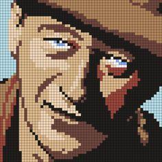 John Wayne (60 X 60 Square Grid Pattern)