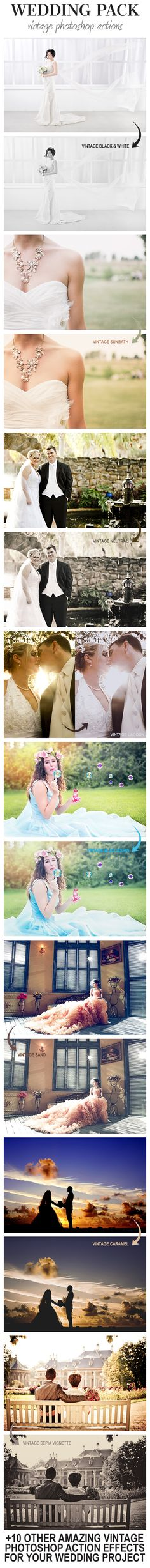 Wedding Pack - Vintage #Photoshop Actions - #Photo Effects #Actions Download here: https://graphicriver.net/item/wedding-pack-vintage-photoshop-actions/19702270?ref=alena994