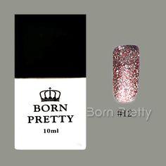 $3.90 1 Bottle BORN PRETTY 10ml Soak Off UV Gel Glitter Sand Platinum Red Nail Art Gel Pure Color #12 - BornPrettyStore.com