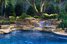 Pool waterfalls in Rumson NJ : Hometalk
