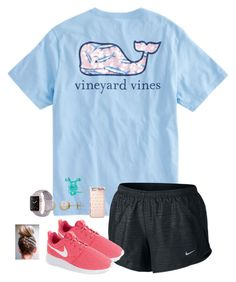 """Running!!"" by jenna-faith11 ❤ liked on Polyvore featuring NIKE, Honora and Michael Kors"
