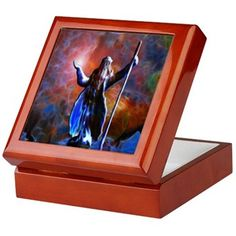 """Here is a sample of a product from the """" The Wizard And The Sea"""" collection. Check out this design in our Cafepress Store! (Keepsake Box)   http://www.cafepress.com/lacetonlimited/11632470"""