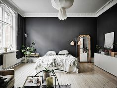 A Dramatic Swedish Space With Black Walls (my scandinavian home)