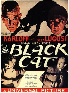 The story of THE BLACK CAT (Edgar G. Ulmer, 1934), which takes only the title of Poe, is dark and disturbing, even by the standards of today. Bela Lugosi plays Dr. Vitus Werdegast, a worshiper of Satan, which sacrifices women, and keeps their bodies kept in the dungeons of his mansion, which is located on the remains of a concentration camp.