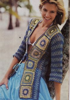 Granny Square Cardi by Dora Ohrenstein