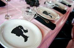 We can do silhouette cutouts or see if there is a stamp & use it on various decor-balloons!!! i cant wait to do this!!!