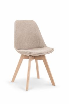Krzesło K303 beżowy / buk - Sklep MebleTkaniny.pl Accent Chairs, Furniture, Design, Home Decor, Chairs, Upholstered Chairs, Decoration Home, Room Decor, Home Furniture