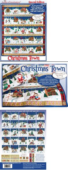 Embroidery Machines 71196: Anita Goodesign Christmas Town Mix And Match Special Edition 14Agse - New Sealed -> BUY IT NOW ONLY: $96.95 on eBay!