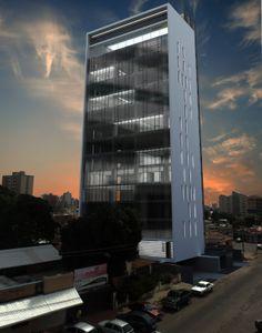 Curtainwall in the north facade T13. MAT-Latinamerica
